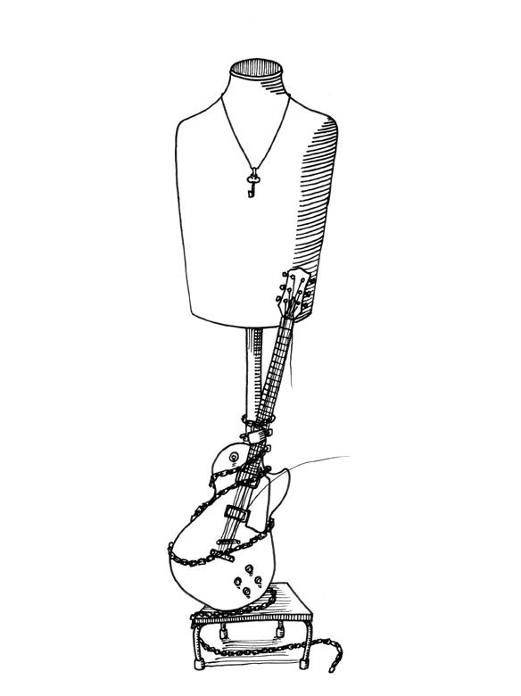 ギターマネキン